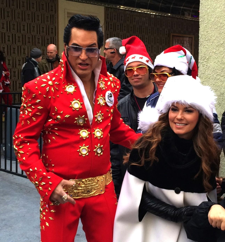 Caesars Palace Headliner Shania Twain And Jesse Garon Official Elvis Of Las Vegas At Santa Run
